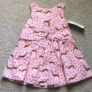 Animal and triangle print bow knot dress